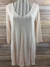 A PEA IN THE POD Medium Maternity Top Long Tunic V-Neck MIMI Tee Pink Blush NEW