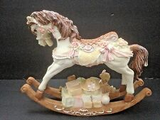 "Vintage Rocking Horse Music Box Carousel Waltz Gifts Teddy Bear Doll Drum 8""x7"""