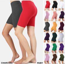 BIKER SHORT Yoga Gym Cotton SPANDEX 1 or 3 Active Wear Leggings Plus Size S-3X;