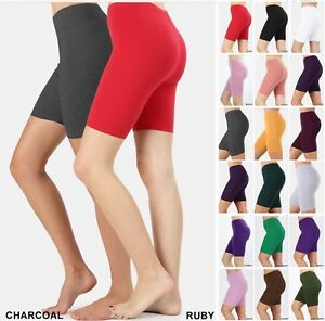 BIKER SHORT Yoga Gym Cotton SPANDEX 3-6 lot Active Wear Leggings Plus Size S-3XL