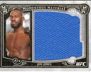 Jon Jones 2016 Topps UFC Museum Collection Momentous Material Mat Relic #18/25