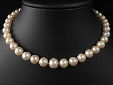 VINTAGE 14CT GOLD GRADUATED 6-10MM SOUTH SEA PEARL NECKLACE - 868A
