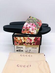 GUCCI Women's GG Pool Slide Sandal -Blooms Supreme Floral EUR 38 / US 8