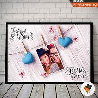 PERSONALISED BFF PHOTO GIFT FOR CHRISTMAS BIRTHDAY PERSONALISED WITH PICTURES