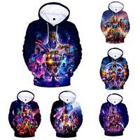Avengers 4 Endgame Hoodie 3D Print Sweatshirt Cosplay Sweater Pullover Coat Tops