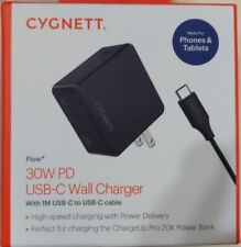 CYGNETT 30W PD USB-C Wall Charger CY2716COPDW With 1M USB-C to USB-C Cable