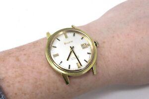 A Very Nice Vintage Bulova Brand 23 Jewels Automatic Gents Wristwatch #29667