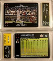 2007 Topps #40 Derek Jeter No Bush / Mantle ASG Graded 9 New York Yankees HOF