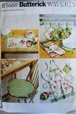 Butterick Waverly pattern B5660 Apron, Hot Pads, Pot Holders, Placemats, Napkins