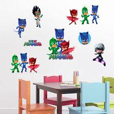 PJ Masks Catboy Owlette Gekko Cartoon Boys Wall Stickers Decals Kids Decor Gift