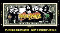 AEROSMITH BAND IMAN BILLETE 1 DOLLAR BILL MAGNET