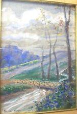 Sicilia - pittore PERNA PIRAINO Carlo , antico dipinto PAESAGGIO Siciliano '900