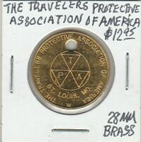Token - St. Louis - Travelers Protective Association of America - 28 MM Brass