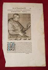 1584.Uomini Illustri.GEORGE D'AMBOISE CARDINAL.A.Thèvet