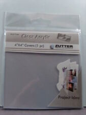 """NEW ZUTTER CLEAR ACRYLIC 4""""X4"""" COVERS  27900  1753"""