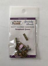 The Happy Hammer SCRAPBOOK QUEEN Brads Embellishments Paper Craft NEW Crown