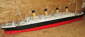 "Stunning Large Scratch Built White Star Liner Titanic 43"" Model Tin Plate & Wood"