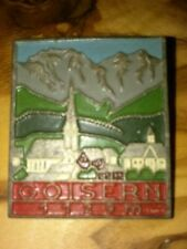 Vintage Oktoberfest Hiking German Bavarian Ski Hat Pin GOISERN 1129m