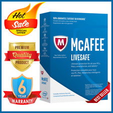 McAfee livesafe 2020 3 Multi-Devices 6 year - Antivirus - Fast delivery