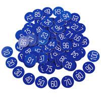 1-100 Blau Kennzeichnungsmarken Textmarken Zahlenmarken Nummer Lasergravur