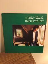 Nick Drake - Five Leaves Left UK First Press Misprint Cover Island Pink Label