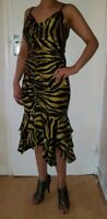 Betsy Johnson Silk Dress with Tiger/Zebra  Size M Excellent Condition