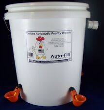 2 Qty- 5 Gallon Automatic Chicken Waterer 4 Drinker Cups Hose Connection
