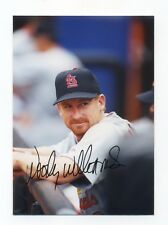 Autographed Photo of Cardinals Woody Williams