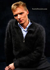 Men's Soft & Fuzzy Mink-Cashmere angora Zipper Cardigan Sweater XS-S-M-L-XL-XXL