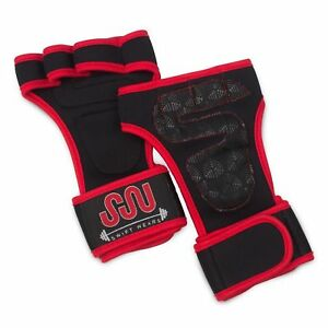 Wrist Wrap Strap Support Weightlifting Gym Exercise Training Silicon Grip Gloves