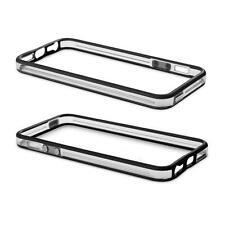 Funda/Carcasa Cover Marco-Bumper Silicona Negro Transparente para iPhone 5/5S