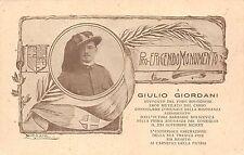4701) BOLOGNA 1922, PRO ERIGENDO MONUMENTO A GIULIO GIORDANI.