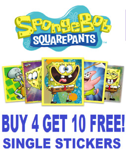 Topps SPONGEBOB SQUAREPANTS (2020) Single Stickers  BUY 4 GET 10 FREE!!
