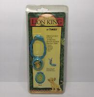 Vintage Disney The Lion King Pendant Locket Teal Aqua Blue Timex Digital Time