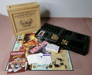INDIANA JONES MONOPOLY in Wooden Crate with Numbered Certificate of Authenticity