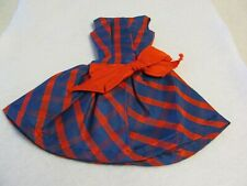 """Barbie Collectible Fashion Trading Card  /"""" Beau Time /"""" Big Red Bow Dress 1966"""