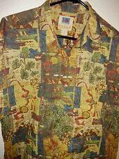 "Kahala AVI ® Men's 100% Cotton Camp Shirt Pole & Net Fishing • M • 24"" Pit to P"