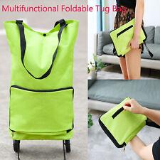 Protable Foldable Shopping Trolley Bag With Wheel Folding Cart Market Luggage US