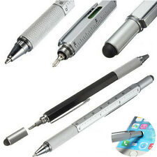 1PC 6 in1 Touch Screen Stylus Ballpoint Pen Spirit Level Ruler Screwdriver Tool