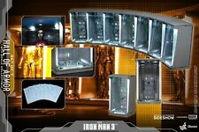 Hot Toys Marvel Iron Man 3 1/6 Scale Diorama Hall of Armor Set of 7 New In Stock