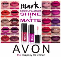 Avon MARK Liquid Lip Lacquer Lipstick 20 Various Matte & Shine Shades THE LATEST