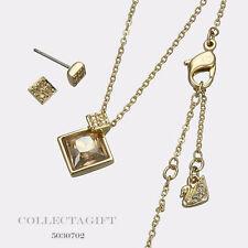 Swarovski Honey Set - Necklace & Pierced Earrings 5030702 MSRP $120