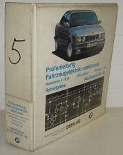 Werkstatthandbuch BMW 5er E34 / E 34 520i 524td Elektrische Schaltpläne ab 1988!
