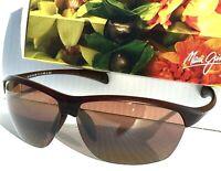 NEW* Maui Jim MIDDLES in BROWN Satin POLARIZED BRONZE Women's Sunglass H428-28