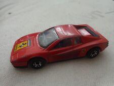 1/59 MATCHBOX - CLASSIC FERRARI TESTAROSSA RED DIECAST CAR VINTAGE 1986