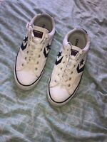 Mens Size 9 Converse Trainers Unisex Converse All Star Pumps White All Stars