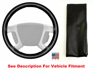 Black Genuine Leather Steering Wheel Cover Wheelskins AXX For GMC Buick