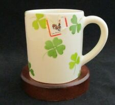 Hand Crafted FARVAL Irish Shamrocks Ceramic Coffee Mug Made in Portugal