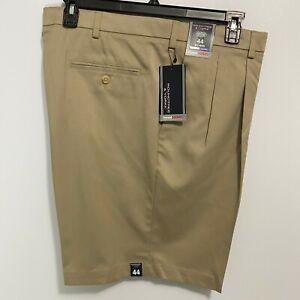 Roundtree & Yorke Travel Smart Shorts Pleated Chino Style 44 46 48 50 52