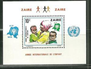 ZAIRE 927 MNH SOUVENIR SHEET INTERNATIONAL YEAR OF THE CHILD SCV 14.00